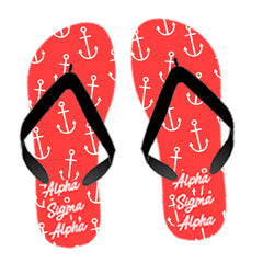 Custom Sorority Anchor Flip Flops - SBL100 - SUB