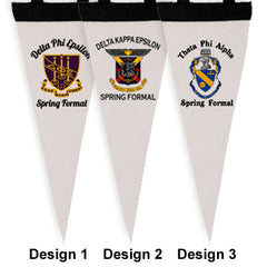 Custom Greek Pennant Formal Favor with Crests - SBL050 - SUB
