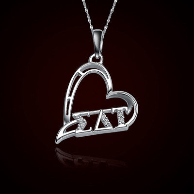 Sigma delta tau sorority heart charm gstc heartcharm for Lil flip jewelry collection
