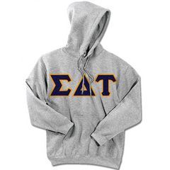 Sigma Delta Tau Standards Hooded Sweatshirt - $25.99 Gildan 18500 - TWILL