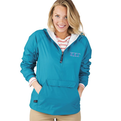 Sorority Pullover Jacket with 2-Color Embroidery - Charles River 9905 - EMB