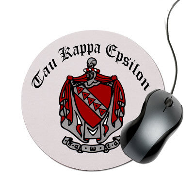 Greek Crest Round Mouse Pad - SMP2 - SUB