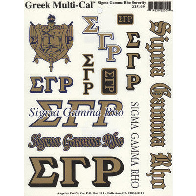 Sigma Gamma Rho Multi-Cal Stickers
