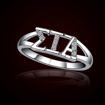 Sigma iota alpha sorority ring gstc r001 something greek for Lil flip jewelry collection