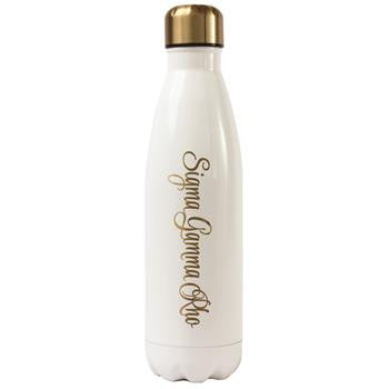 Sigma Gamma Rho Stainless Steel Shimmer Water Bottle - a3001