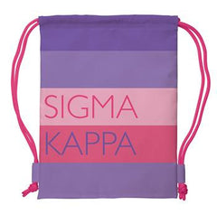 Sigma Kappa Drawstring Backpack - a1009
