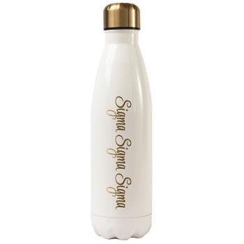 Sigma Sigma Sigma Stainless Steel Shimmer Water Bottle - a3001