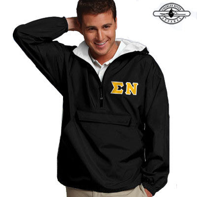 Sigma Nu Pullover Jacket - Charles River 9905 - TWILL