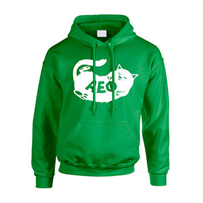 Sorority Cat Design Printed Hooded Sweatshirt - Gildan 18500 - CAD