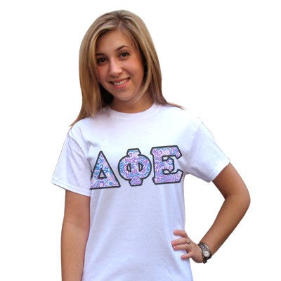 Sorority Panoramic Pattern Printed Tee - Gildan 420 - SUB