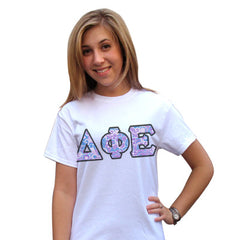 Sorority Panoramic Pattern Printed Tee - Jerzees 21MR - SUB