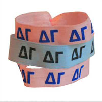 Delta Gamma Hair Ties - Scribbles & Such SNS