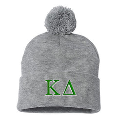 "Greek Sorority Pom-pom 12"" Knit Beanie - Sportsman SP15 - EMB"