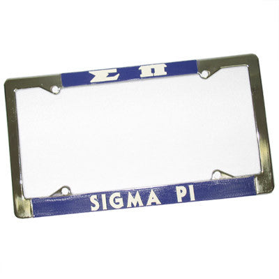 Sigma Pi License Plate Frame - Rah Rah Co. rrc