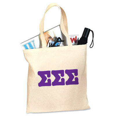Sigma Sigma Sigma Printed Budget Tote - Letter - 825 - CAD