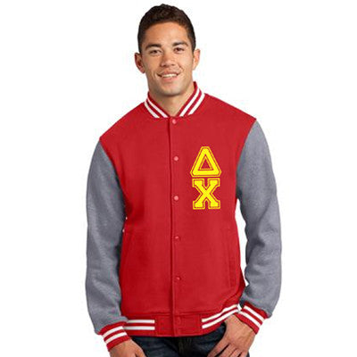 Custom Greek gear Fraternity Printed Varsity Jacket