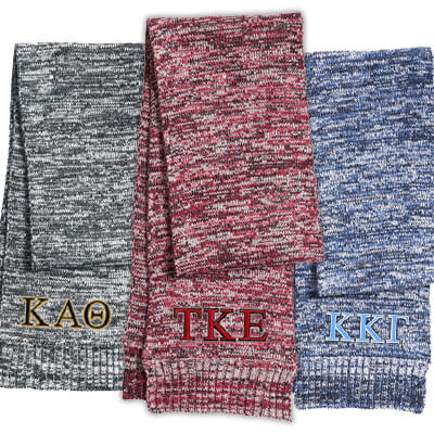 Greek Sorority Marled Scarf - Sport-Tek STA04 - EMB