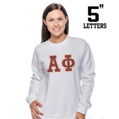 Sorority Printed Crewneck with 5-Inch Letters - Gildan 18000 - SUB