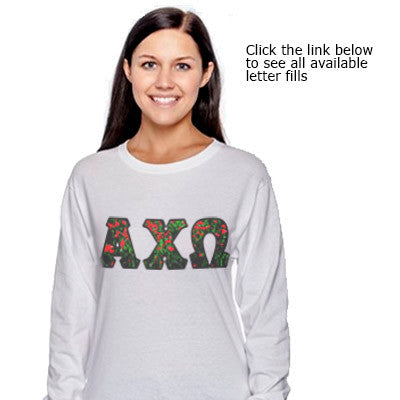 Sorority Panoramic Printed Long-Sleeve Tee - Gildan 8400 - SUB