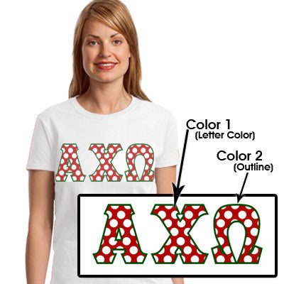 Sorority Polka Dot Printed T-Shirt - Gildan 8000 - SUB