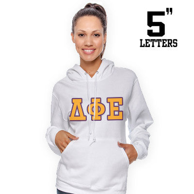 Sorority Printed Hoody with 5-Inch Letters - Gildan 18500 - SUB