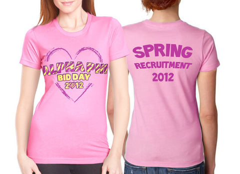 Heart Bid Day Shirt