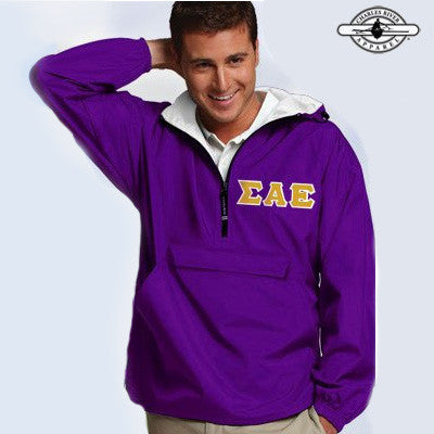 Sigma Alpha Epsilon Pullover Jacket - Charles River 9905 - TWILL