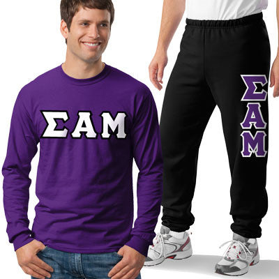 Sigma Alpha Mu Longsleeve / Sweatpants Package - TWILL