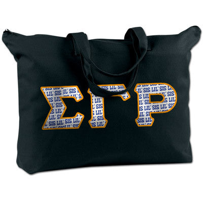 Sigma Gamma Rho Shoulder Bag - Bag Edge BE009 - TWILL