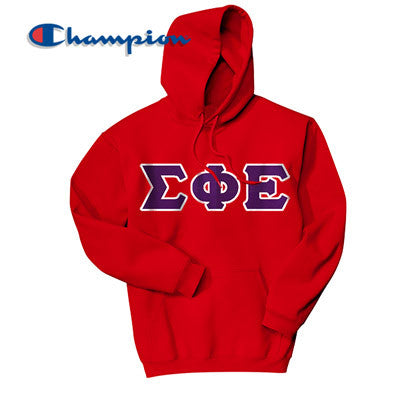 Sigma Phi Epsilon Champion Hooded Sweatshirt - Champion S700 - TWILL