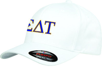 Sigma Delta Tau Flexfit Fitted Hat - Yupoong 6277 - EMB