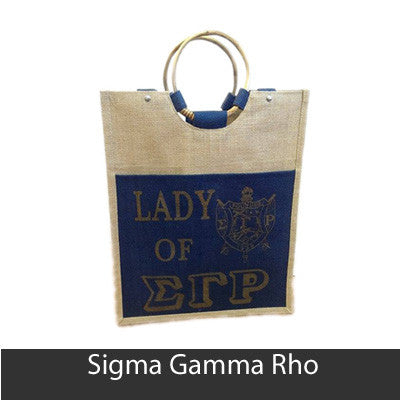 Sorority Pocket Jute Shopping Bag - SP-66P
