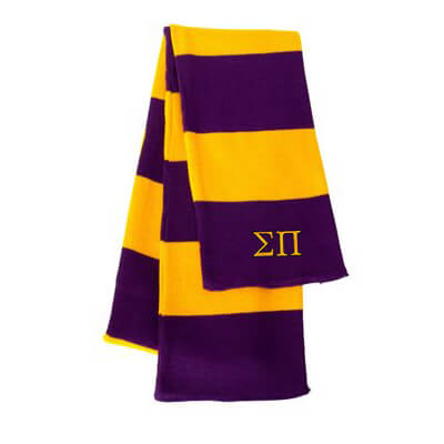 Greek Fraternity Rugby-striped Knit Scarf - Sportsman SP02 - EMB