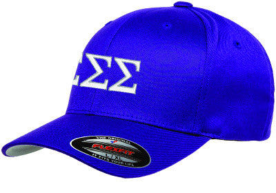 Sigma Sigma Sigma Flexfit Fitted Hat - Yupoong 6277 - EMB