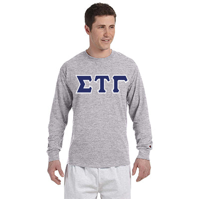 Sigma Tau Gamma Champion Long-Sleeve Tee - Champion CC8C - TWILL