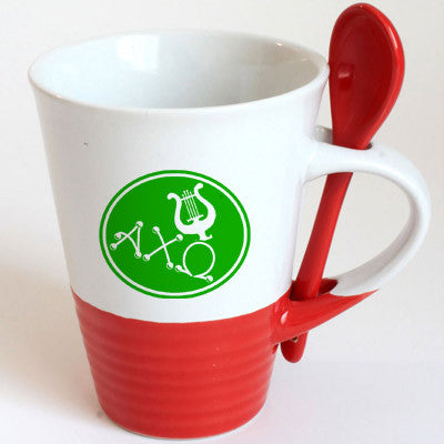 Alpha Chi Omega Sorority Coffee Mug with Spoon - 6150