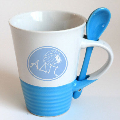 Alpha Delta Pi Sorority Coffee Mug with Spoon - 6150