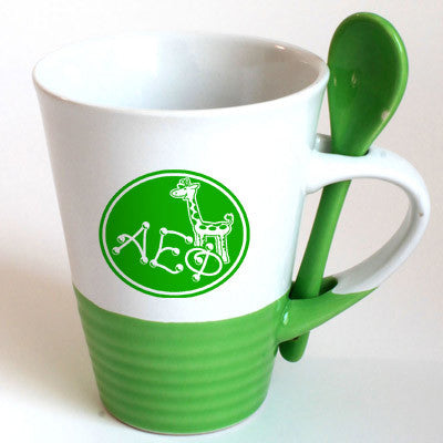 Alpha Epsilon Phi Sorority Coffee Mug with Spoon - 6150