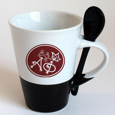 Alpha Phi Sorority Coffee Mug with Spoon - 6150