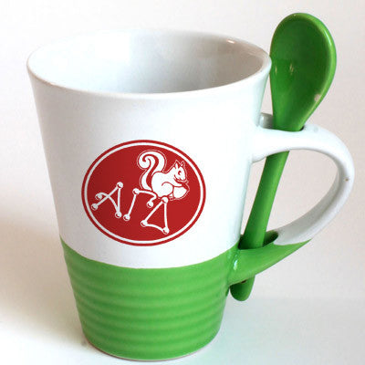 Alpha Gamma Delta Sorority Coffee Mug with Spoon - 6150