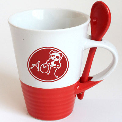 Alpha Omicron Pi Sorority Coffee Mug with Spoon - 6150