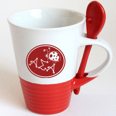 Alpha Sigma Alpha Sorority Coffee Mug with Spoon - 6150