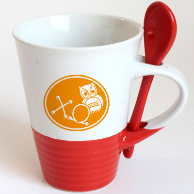 Chi Omega Sorority Coffee Mug with Spoon - 6150