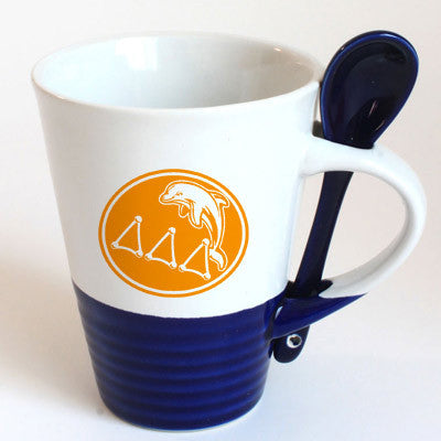 Delta Delta Delta Sorority Coffee Mug with Spoon - 6150