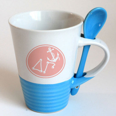Delta Gamma Sorority Coffee Mug with Spoon - 6150