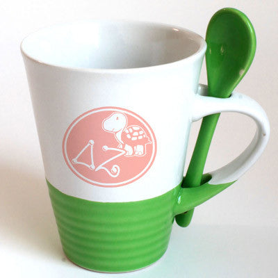 Delta Zeta Sorority Coffee Mug with Spoon - 6150