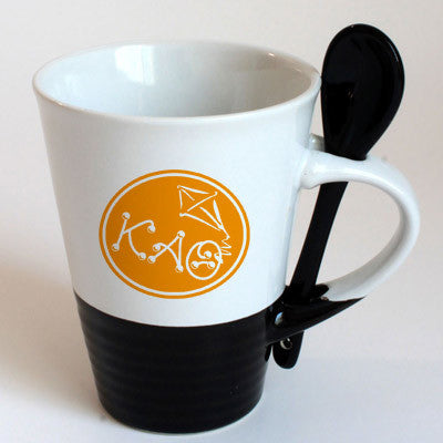 Kappa Alpha Theta Sorority Coffee Mug with Spoon - 6150