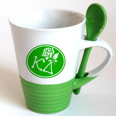 Kappa Delta Sorority Coffee Mug with Spoon - 6150