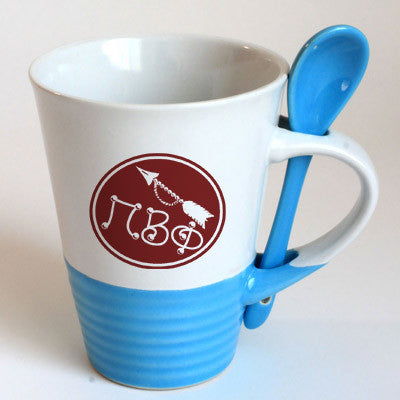 Pi Beta Phi Sorority Coffee Mug with Spoon - 6150