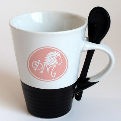 Phi Mu Sorority Coffee Mug with Spoon - 6150